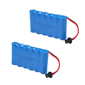 Hootracker Crazepony-UK 7.2V 1400mAh Battery Pack SM Plug for RC ...
