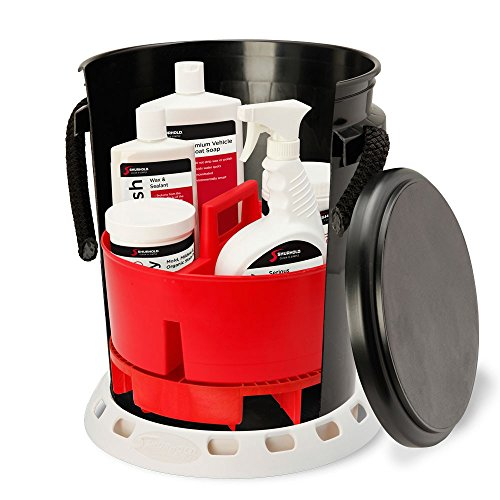 Shurhold 2466 5 Gallon Black Ultimate Bucket Kit, 32. Fluid_Ounces ()