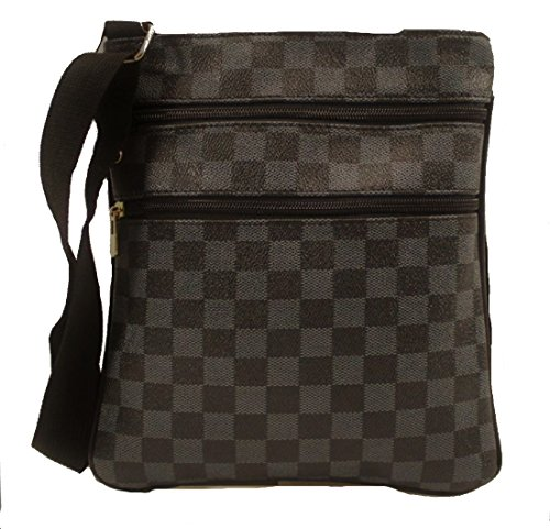 Monogram Black Gossip Unisex Saddle Cross Pouch Checkered Bag Man Designer Record Check Girl Travel Bag Body Messenger qawRraI4
