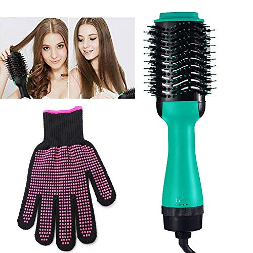 Hot Air Brush Styler And Dryer (2019), Hamkaw 3-IN-1 Electric Hair Dryer & Straightener & Curler With Heat Resistant Gloves, Professional Salon Styling Hair Dryer Brush For All Hair Types