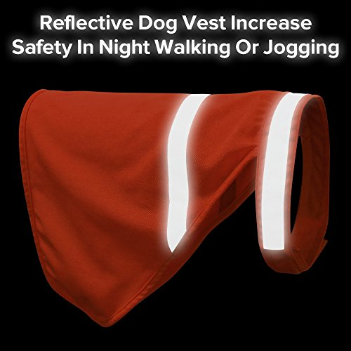 Clan_X Reflective Dog Vest for Small Dogs, Orange Hunting Shirt with High Visibility Adjustable Strap to Keep Dog Safety at Night (S, Orange) ()