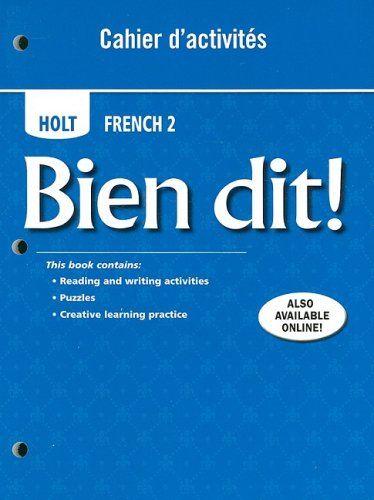 French 2 Student Activities (Bien dit!: Cahier d'activities Student Edition Level 2)