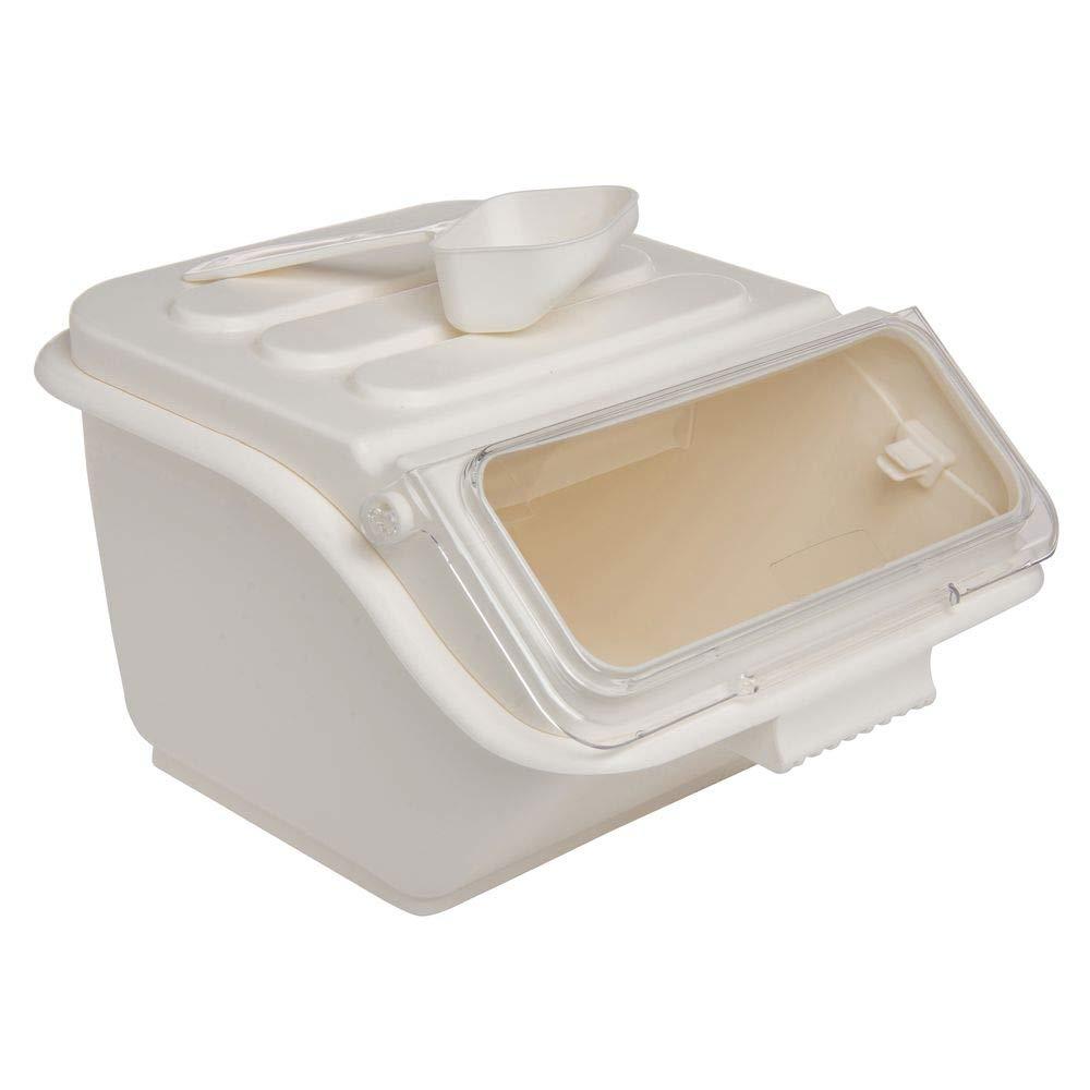 Hubert Ingredient Bin 34 Cup White - 14 1/2 L x 11 5/8 W x 8 5/8 H