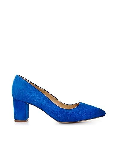 sports shoes 1cbdd 80618 ShoeVita handgefertigte Damen Wildleder Pumps Blockabsatz ...