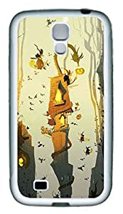 Galaxy S4 Case, Personalized Custom Protective Soft Rubber TPU White Edge Halloween 01 Case Cover for Samsung Galaxy S4 I9500