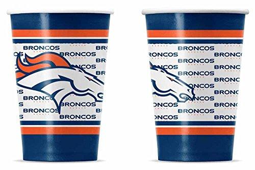 NFL Denver Broncos Disposable Paper Cups (20-Pack)