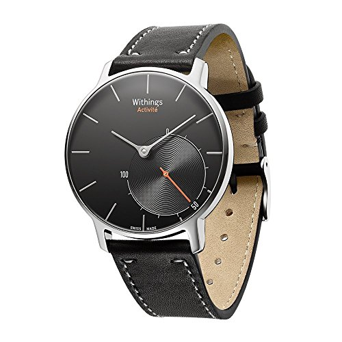 Balerion Band for Nokia steel ,Withings Steel HR 36MM,Activité Sapphire and Activité Steel,Activité pop,Genuine Leather Strap Replacement Watch band Bracelet for Withings Steel HR 36MM--Black 36MM