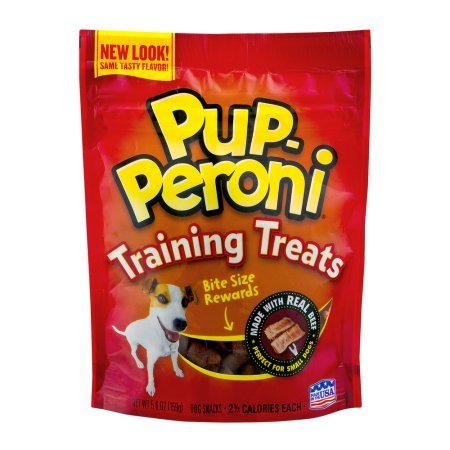 2 pack Pup-Peroni Training Treats / Snacks, Real Beef BITE SIZE, 5.6 OZ – perfect for small dogs