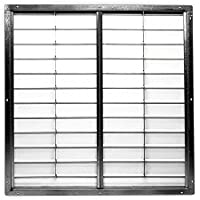 48 Agricultural Wall Exhaust Shutter / PVC Shutter, 51-1/2 x 51-1/2 Opening Required