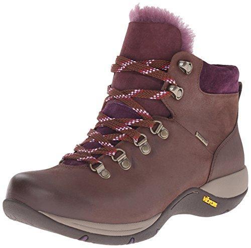 (Dansko Women's Chelsey Winter Boot, Brown Burnished Nubuck, 37 EU/6.5-7 M US)