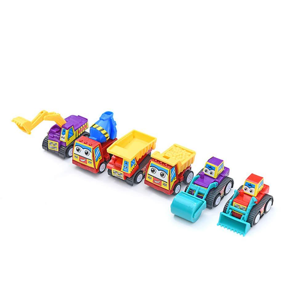 joizo Pull Back Autos f/ür Kleinkinder 1 Packung Mini Pull Back and Go Auto-Spielzeug-Spiel-Satz umfassen City Car Fire Truck Technik Vehicle Fahrzeugbau