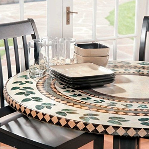 FAXADELLA Mosaic Table Cover 48 Tile Table Cover - Mosaic Table Top - Mosaic Table Cover 36 - Elasticized Mosaic Table Cover. Extreme Durability, Backed by A (Replacement Table Tile Top)