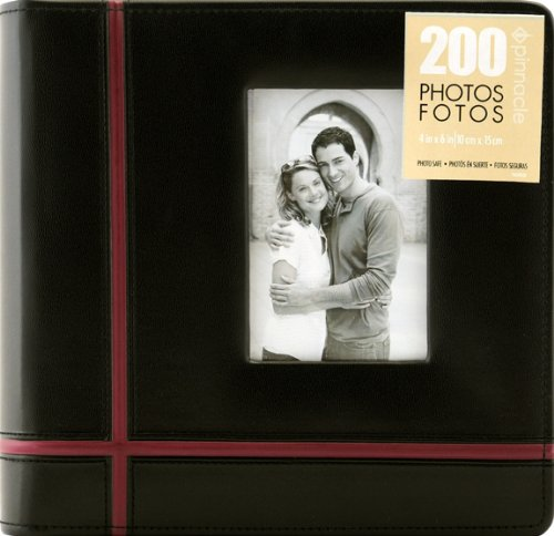 Pinnacle 160 Pocket Crossroad Photo Album, Black or Red