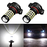 Alla Lighting 2000 Lumens High Power 2835 51-SMD Super Extremely Bright 6000K White 12276 2504 PSX24W LED Bulbs for Fog Light Lamps Replacement