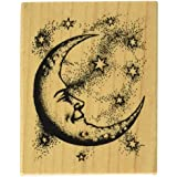 "Inkadinkado Mounted Rubber Stamp   -Crescent Moon 2.5""X2"""