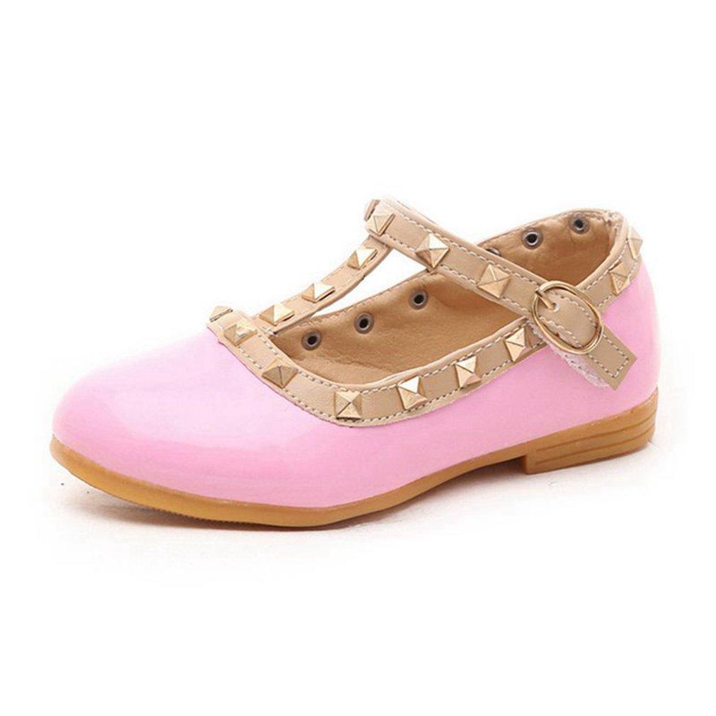 CYBLING Baby Girls Studded T-Strap Shoes Toddler Little Kid Princess Ballet Ballarina Flats