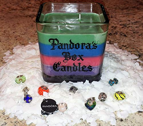 Pandora's Box Candles Unicorn + 100% Soy Candles + Double Cotton Wicks + Jewelry Candle + European Style Charms + Prize Candles + Inside + Aromatherapy + Pandora ()