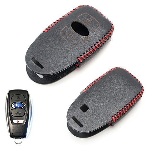 ijdmtoy-1-black-premium-leather-3d-key-fob-holder-cover-for-2013-up-subaru-brz-2015-up-subaru-wrx-st