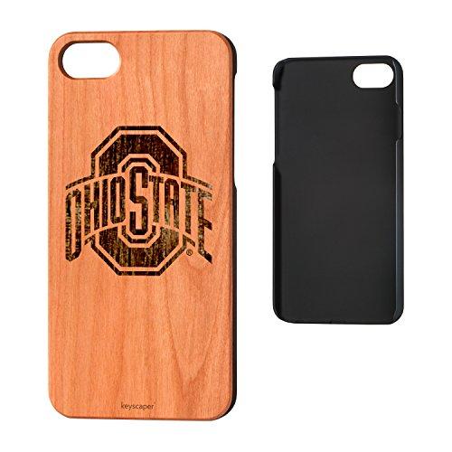 Keyscaper Ohio State University Cherry Wood iPhone 7/iPhone 8 Case NCAA ()