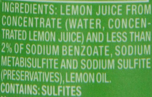 ReaLemon 100% Lemon Juice, 8 Fluid Ounce Bottle 3 One 8 fluid ounce bottle 100% lemon juice from concentrate Great for use in recipes and beverages