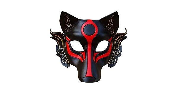 nihiug Mascarilla Japonesa Especial Hombres Guerrero Máscara ...