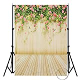 MOHOO Background 100% Polyester 5x7FT Flower Wall Butterfly Studio Backdrop Photography for Photo Studio Props 1.5x2.1m