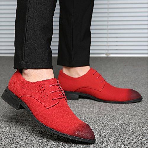 Aardimi Modische Business Rot Herren Schuhe Hochzeit Lace Oxfords Schnürhalbschuhe Anzug Derby Ups BPBzrn