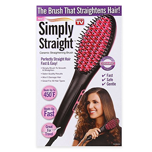 Price comparison product image New! Simply Straight Ceramic Straightening Brush - As Seen On TV!!!