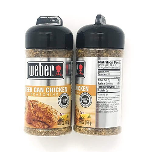 Weber Grill Beer Can Chicken Seasoning, 5.5 oz (Pack of 2)