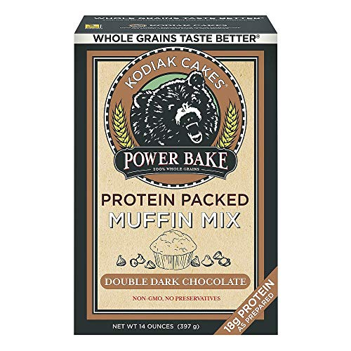 Kodiak Cakes Power Bake Protein Packed Muffin Mix Double Dark Chocolate 14 Ounce