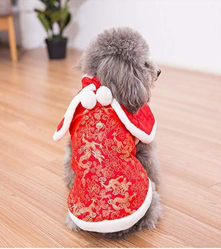 Cappotto per animali domestici Autunno e inverno nuovo vestito Tang Teddy cat cucciolo di cane vestiti da compagnia autunno e inverno più vestiti di velluto Capodanno abbigliamento marea (colore  Ross