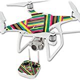 MightySkins Protective Vinyl Skin Decal for DJI Phantom 4 Quadcopter Drone wrap cover sticker skins Split Color