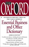 The Oxford Essential Business and Office Dictionary, Oxford University Press Staff, 0425186636