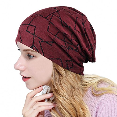 Fheaven (TM) Women's Fashion Caps Lightweight Cotton Slouchy Beanies Chemo Cancer Hair Loss -