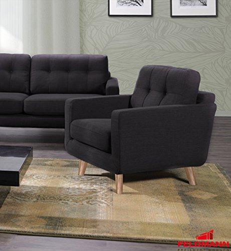 Sillón 61052 Muebles tapizados strukturstoff gris oscuro ...