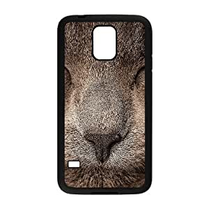 Samsung Galaxy S5 Cell Phone Case Black_ae78 sleeping cat zoom nature Trkhc