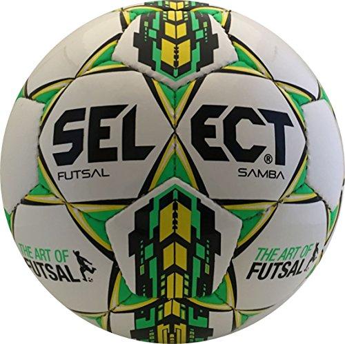 Select Sport America Samba Futsal Ball, Size Senior, White/Green