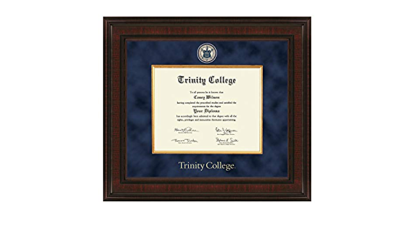 Amazon Com M La Hart Trinity College Diploma Frame Excelsior Sports Outdoors
