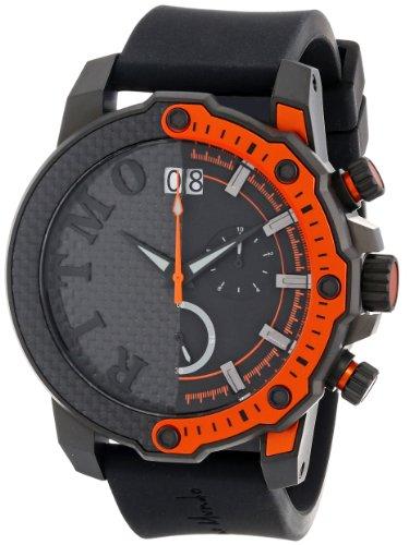 Ritmo Mundo Unisex 1201/3 Orange Quantum Sport Quartz Chronograph Carbon Fiber and Aluminum Accents Watch Carbon Fiber Chronograph Watch