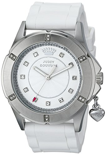 Juicy Couture Women's 1901195 Rich Girl Analog Display Quartz White