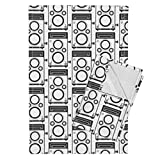 Roostery Camera Tea Towels Gray Twin Lens Reflex by Audreyclayton Set of 2 Linen Cotton Tea Towels
