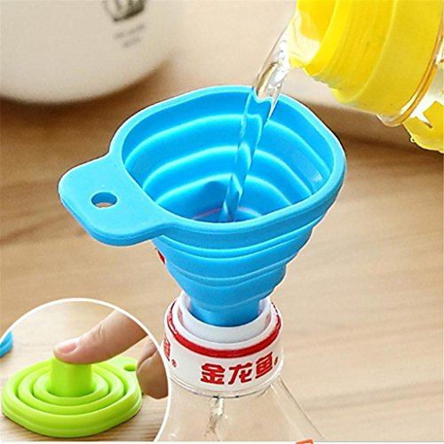Urn Paper - Telescopic Funnel,LtrottedJ Kitchen Home Mini Food Grade Silicone Folding Telescopic Funnel