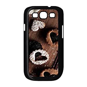 Samsung Galaxy S3 Case,Love Candy Dessert Hard Shell Back Case for Black Samsung Galaxy S3 Okaycosama410584