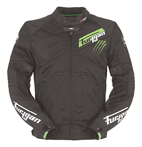 Furygan Veste Jack Hurricane, noir/vert, taille XXL tailleXXL SAS Jacques Furygan 6305