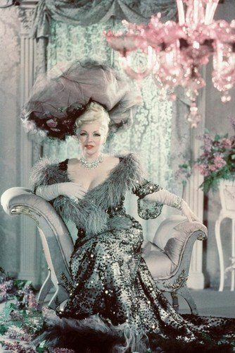 Mae West Stunningphoto Shoot In Elegant Gown Hat 11x17 Mini Poster