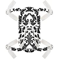 Skin For ZEROTECH Dobby Pocket Drone – Black Damask | MightySkins Protective, Durable, and Unique Vinyl Decal wrap cover | Easy To Apply, Remove, and Change Styles | Made in the USA