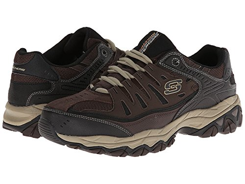 - Skechers Men's AFTER BURN M.FIT Memory Foam Lace-Up Sneaker, Brown/Taupe, 9.5 4E US