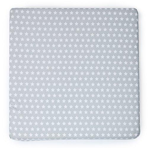 Colchoneta juegos de suelo bebé desenfundable by Mimuselina (Estrellas gris)