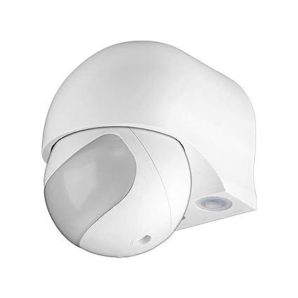 Goobay ODA Sensor infrarrojo pasivo (PIR) Alámbrico Pared Blanco - Sensor de Movimiento (
