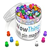 Neodymium Mini Fridge Magnets Strong - 105 Pack, Assorted Colored...